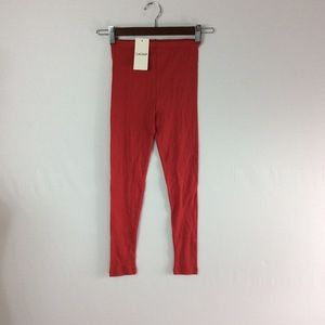 D54 Red Caomp Girls Size 7/8 Legging